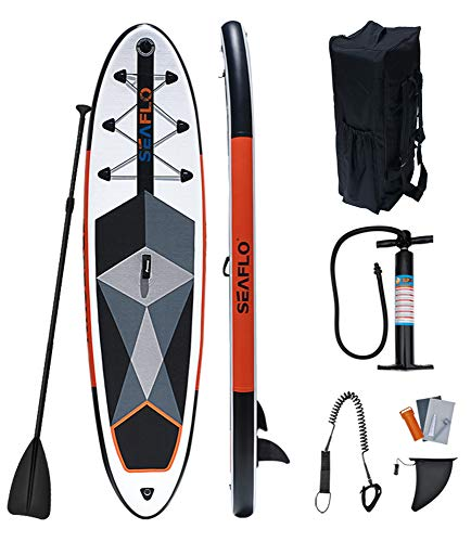 QIANG Tabla De Stand Up Paddle Surf Inflable Sup De 6.5'de Grosor con Bolsa De Transporte Paleta Ajustable Aleta Inferior Bomba Manual Plataforma Antideslizante Correa Kit De Reparación