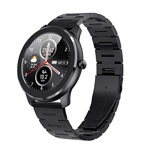 XYZK T6 Touch Full Touch Relojes Inteligentes para Hombres Y Mujeres A Prueba De Agua Presión Arterial A Prueba De Agua Rastreador De Ritmo Cardíaco Seguimiento De Sueño Moda para Android iOS,D