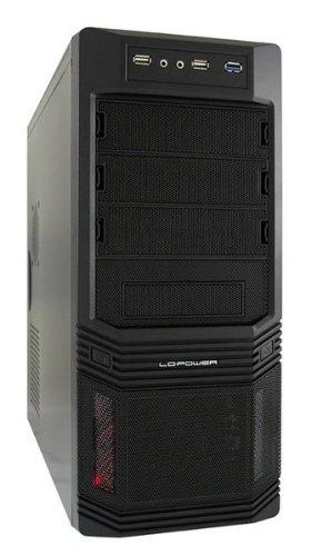 LC-Power PRO-925B midi-toren zwart PC-behuizing (midi-toren, PC, metaal, zwart, ATX, micro ATX, 15 cm)