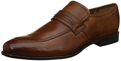 Ruosh Men's Tan/Light Brown Leather Loafers