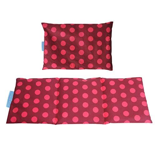 Dr. Berger SET Kirschkernkissen 30x20 cm und 50x20 cm Wärmekissen für die Mikrowelle - gefüllt mit Kirschkernen, Wärme- Kälte- Körnerkissen Bett, Geschenkidee Rot
