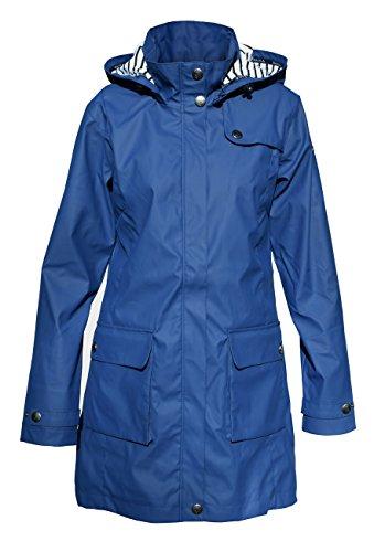 Batela Damen Regenmantel 3/4 Länge Friesennerz mit Innenfutter, Farbe:blau, Größe:48