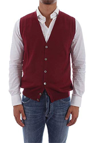 Luxury Fashion | Barba Heren 1429658582285 Bordeaux Wol Gilets | Herfst-winter 19