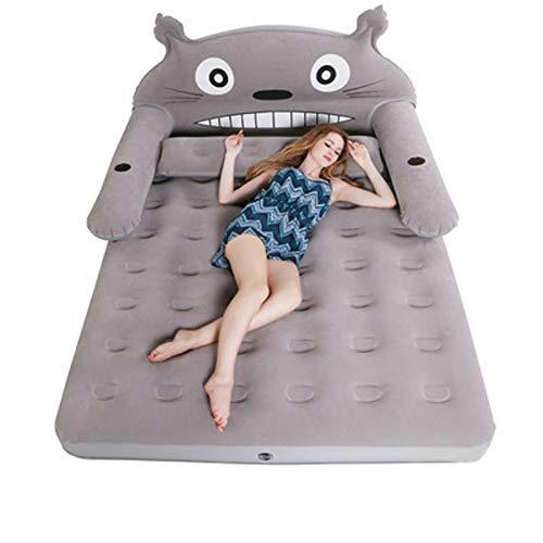 MUY Cartoon Luftmatratze, Schlaf-Beflockung Einzel- Und Doppel-Luftbett, Indoor/Outdoor Campingbett Für Wandern, Trekking,200 * 120 * 20cm