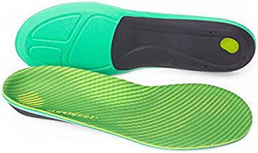 Superfeet Run Comfort Carbon Fiber Orthotic Inserts Thick-Cushion Insoles for Running Shoes with High Arch Support, Unisex, Citron, 9.5-11 Men / 10.5-12 Women