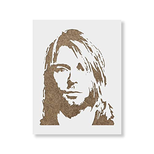 Kurt Cobain Stencil - Reusable Stencils for Painting - Mylar Stencil for DIY Projects and Crafts