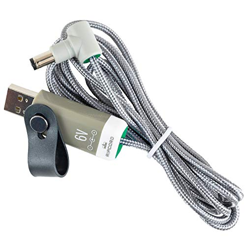 MyVolts Ripcord-USB-Ladekabel mit 6V DC Ausgangsstecker kompatibel mit Bontempi PM 749 Keyboard