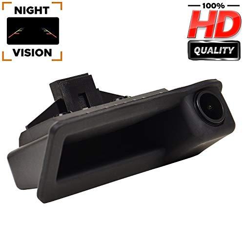 Upgraded Rückfahrkamera 1280 x 720 p Kamera integriert im Kofferraum Griff Rückfahrkamera für BMW E60 E61 E70 E71 E72 E82 E88 E84 E90 E91 E92 E93 X1 X5
