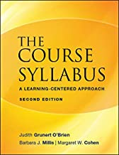 The Course Syllabus: A Learning-Centered Approach (JB - Anker Book 123)