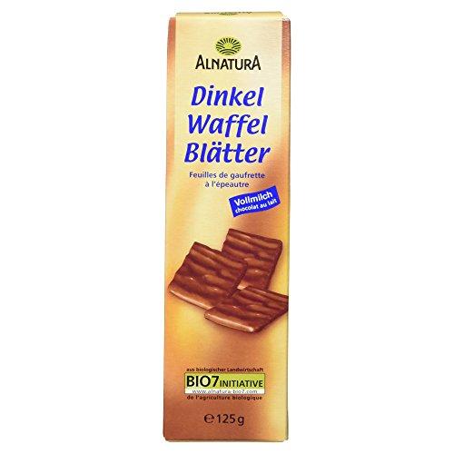 Alnatura Bio Dinkel-Waffelblätter, Vollmilch, 6er Pack (6 x 125 g)