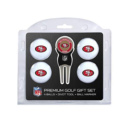 Team Golf NFL Golfbälle (4 Stück) & Pitchgabel mit abnehmbarem, doppelseitigem magnetischem Marker, Unisex-Erwachsene, 32706, San Francisco 49Ers, Einheitsgröße