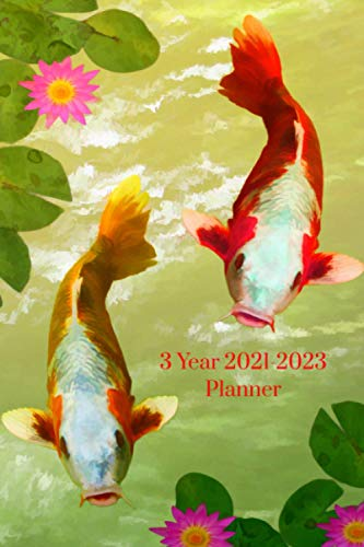 Japanese Koi Fish 3 year 2021-2022 Planner: Compact and Convenient 3 Year 2021-2022 Planner for Koi Enthusiasts