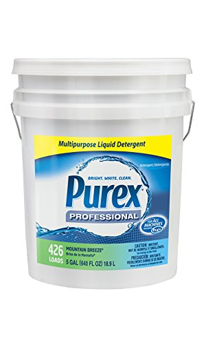 Dial 1468876 Professional Purex Mountain Breeze Multipurpose Liquid Detergent, 5 Gallon Pail, 426 Loads