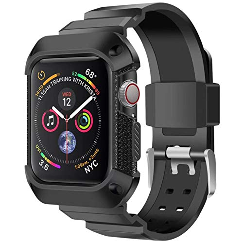Correa deportiva para Apple Watch band Estuche 44 mm 40 mm iwatch Funda protectora de TPU resistente + Banda para Apple Watch Series 5 4 se 6