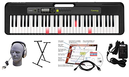 Casio LK-S250 61-Key Premium Lighted Keyboard Pack with Headphones, Stand, Power Supply, 6-Foot USB Cable and eMedia Instructional Software (CAS LKS250 EPA)