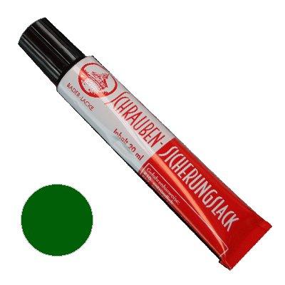 Schraubensicherungslack 20 ml. in Tube grün - Sicherungslack - Schraubenkleber