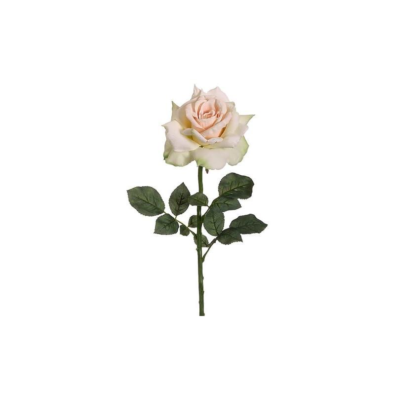 "silk flower arrangements 26"" silk diana rose flower spray -apricot/green (pack of 12)"