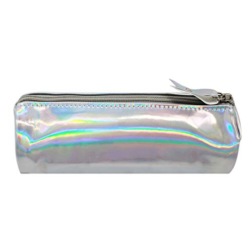 Aisa Pencil Case Holographic Zipper Pen Bags Cosmetics Bags