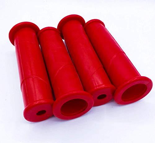 Schubkarrengriffe 30 mm 4 Stück/2 Paar rot