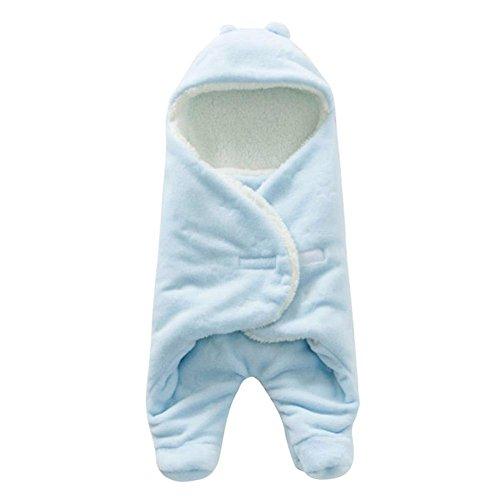 Brandnieuw baby Blanke, aparte legs luierslaapzak luierslaapzak dikke warme kinderwagendeken, anti-kiep- en capuchon-design, modieuze hulp