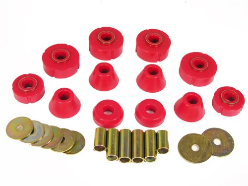 Prothane 7-112 Red Body and Standard Cab Mount Bushing Kit 12 Piece