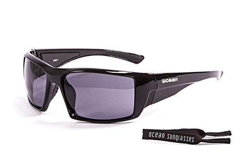 Ocean Sunglasses Aruba - Gafas de Sol polarizadas - Montura : Negro Brillante - Lentes : Ahumadas (3200.1)