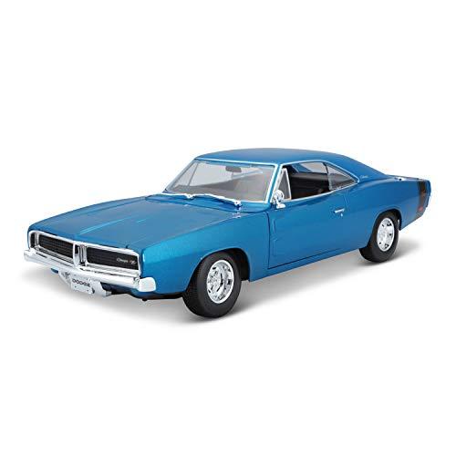Maisto Dodge Charger R/T ´69, Modellauto mit Federung, Maßstab 1:18, Türen und Motorhaube beweglich, Fertigmodell, lenkbar, 24 cm, sortiert (31387)