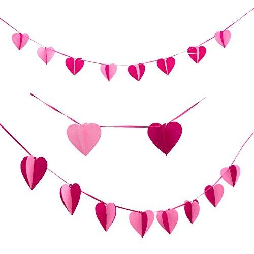 Oblique-Unique® Herz Girlande Pink Rosa