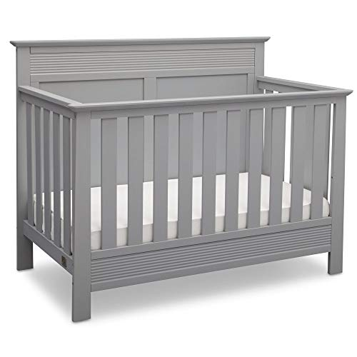 Serta Fall River 4-in-1 Convertible Baby Crib, Grey