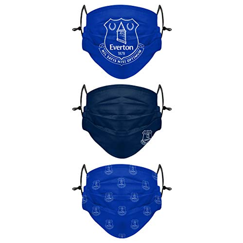 Forever Collectibles UK Football Everton FC Premier League 3 Pack of Face Covers