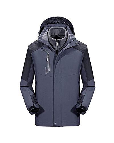 HaiDean Chaqueta De Esquí para 1 Mujer 3 En Modernas Casual Chaqueta De Trekking Impermeable Más Gruesa Al Aire Libre Abrigo con Capucha Abrigada Moda para Hombre