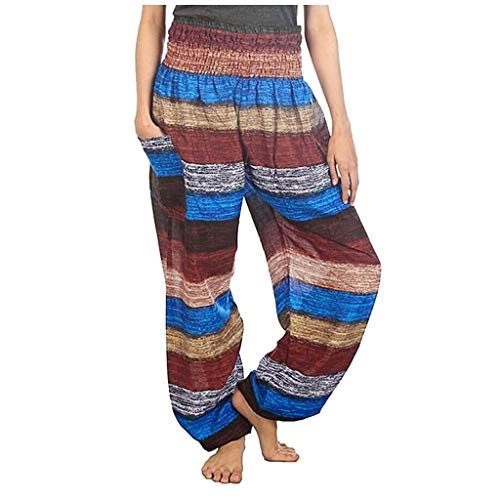 Best Review Of Ethnic Yoga Pants - Women'S Comfy Casual Pajama Pants Floral Print Stretchy Elastic...