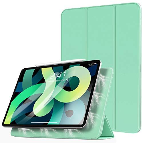 TiMOVO Funda Compatible con Nuevo iPad 10.9 Inch, iPad Air 4.ª Generación 2020, Absorción Magnética Cubierta Ligero Inteligente Funda, con Auto Sueño/Estela - Verde Claro
