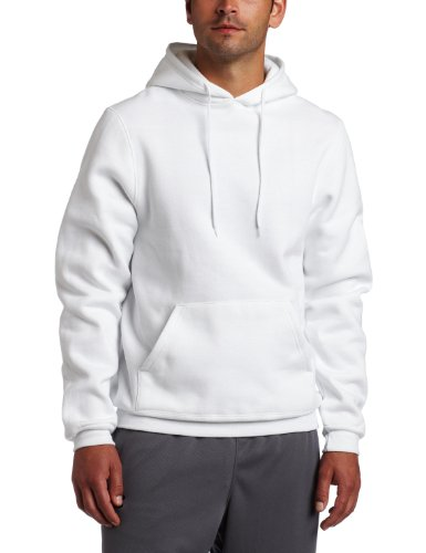 Soffe Men's Training Fleece Hooded Sweatshirt White X-Large