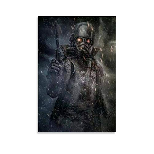 WODETA Fan Art Fallout New Vegas Canvas Art Poster and Wall Art Picture Print Modern Family Bedroom Decor Posters 08x12inch(20x30cm)