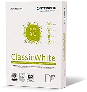 Steinbeis ClassicWhite DIN A4, Papel multifunción, Color Blanco, 80 g/m², 5 x 500 hojas