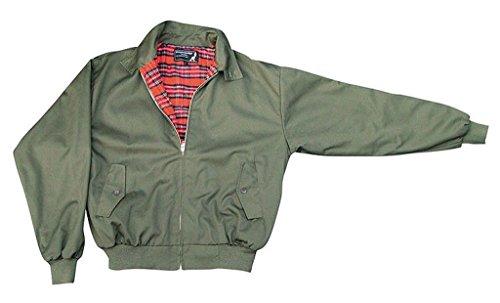 """""""harrington"""" veste avec doublure à carreaux twill qualité s/s vert olive"""