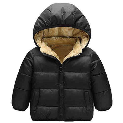 Taigood Ragazzi Invernale Giubbotto Piumino Caldo Removibile Bambino Cappotto con Cappuccio Ragazze Jacket 2-8 Anni