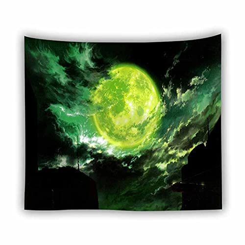 Fantasía universo espacio tapiz colgante de pared dormitorio fondo arte hippie luna tapiz psicodélico tapiz tela A5 180x200cm