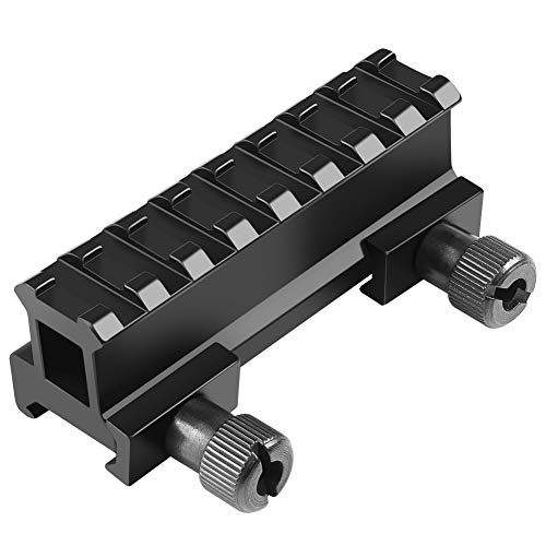 Fyland 0.83'' Picatinny Riser Mount with See Through Hole for Scopes and Optics, 3.3'' long, 8 Slot