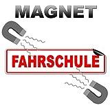 2 Stück Fahrschule Magnetschilder 32x8cm als Magnetfolie Fahrschulausstattung Fahrschulorganisation Magnetschild Warntafel Schild