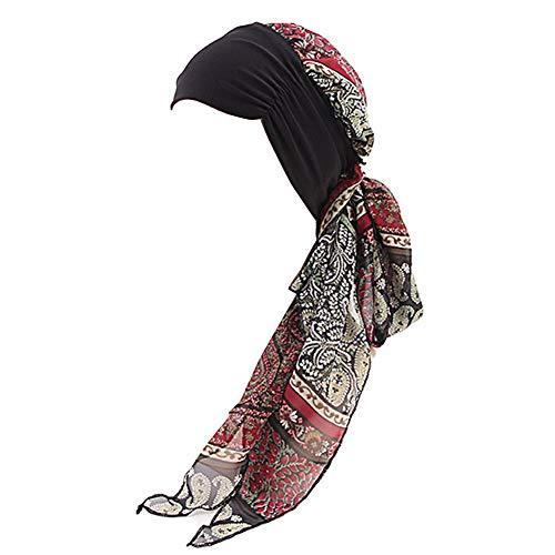 GUIFIER Frauen Bandana Kopftuch Kopfbedeckung,Frauenalltags Chiffon Kopftücher,Damen Turban Hut Kopftuch Wickeln Kopfbedeckungen für Krebs Chemopatienten Haarausfall Chemo
