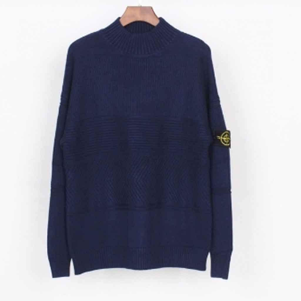 ZYING Fashion New Turtleneck Pullover Knit Sweater Beautiful and Stylish Easy to Use (Color : Style 4)