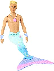 ​Make a splash with Barbie merman doll from Barbie Dreamtopia ​His tail and fin are coloured in ombre shades of blue and purple and a hint of pink; colourful stars and a scale-pattern add more fantasy touches ​Accessorize him for undersea occasions o...
