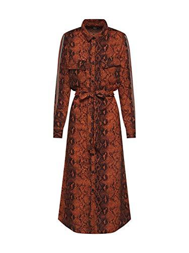 ONLY dames jurk Onlkaty L/S Midi Shirt Dress WVN