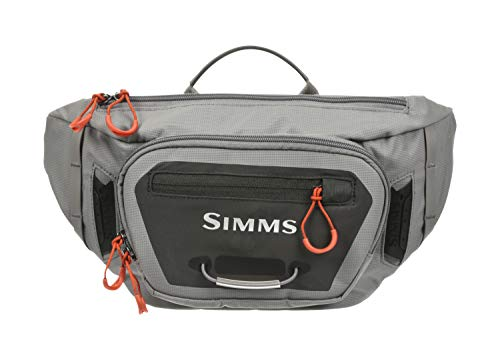 Simms Freestone Tactical Hip Pack, Water Resistant Fanny Pack with Pockets, Grey
