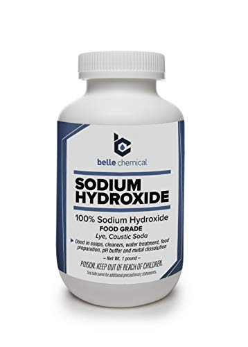Sodium Hydroxide - Pure - Food Grade (Caustic Soda, Lye) (1 Pound Jar)
