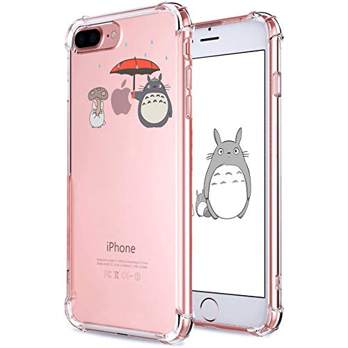 Allsky Case for iPhone 7 Plus/8 Plus 5.5',Clear Cartoon Design Pattern Soft Cute Fun Ultra-Thin Cover,Kawaii Kids Girls Teens Animal Skin Creative Shockproof Funny.Cases for iPhone 7/8 Plus Totoro