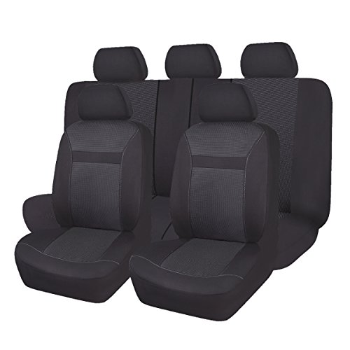 - 2 pezzi nero ecc custodia in pelle PU protezione posteriore del sedile regolabile impermeabile multi-tasca adatta per il trasporto di telefoni cellulari ipad Custodia per il seggiolino auto