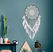coffee lace dream catcher hanging ornaments Nordic style home feather crafts ornaments wind Chimes hanging -X